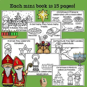 Holidays Around the World Mini Book BUNDLE for Early Readers: 7 Mini Books