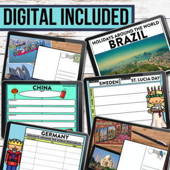 Holidays Around the World | PROJECTS | passport | CRAFTS | close reading writing