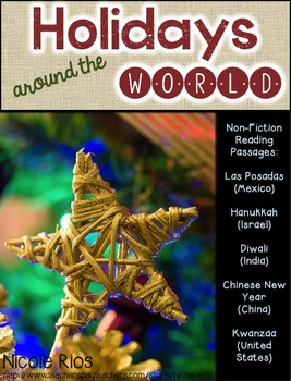 Holidays Around the World (Non-Fiction Reading Passages and Strategies Unit)
