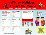 Holidays Around the World Note Taking and Video Links