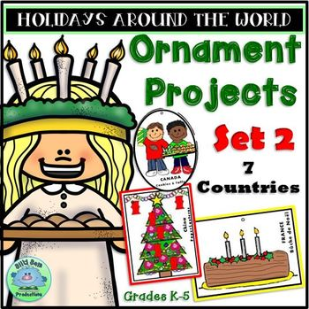 Holidays Around the World ORNAMENT PROJECTS 7 Countries SET 2