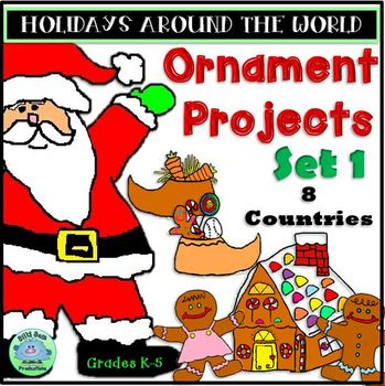 Holidays Around The World Ornament Projects 8 Countries Set 1