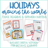 Holidays Around the World Suitcase & Passport: Close Reading & Opinion Writing