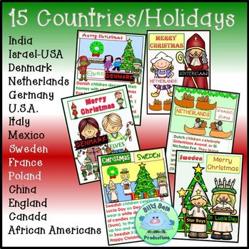 Holidays Around the World POSTERS and BANNER 15 COUNTRIES