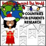Holidays Around the World Pennant Banner Activity