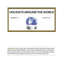 Holidays Around the World Project