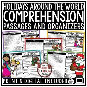 Holidays Around the World - Reading Comprehension Passages 4th Grade, 3rd Grade