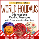 Reading Comprehension Passages - World Holidays - Distance Learning