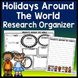 Holidays Around the World Research Activity: Holidays Graphic Organizer