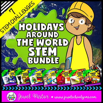 Holidays Around the World STEM Activities BUNDLE (With STEM Christmas Challenge)