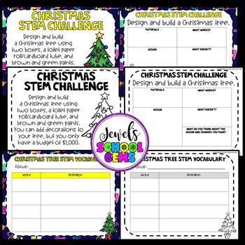 Holidays Around the World STEM Activities (Christmas Tree STEM Challenge)