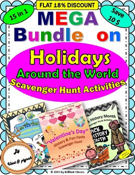 Holidays Around the World Scavenger Hunt Activities