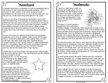 Holidays Around the World Scavenger Hunt and Reading Text