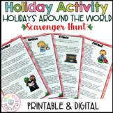 Holidays Around the World | Scavenger Hunt | Reading Passa