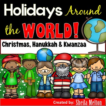 Holidays Around the World Sorting Pictures (Christmas, Hanukkah, Kwanzaa)