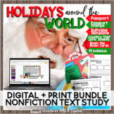 Holidays Around the World Study Paper and Digital BUNDLE for Distance Learning