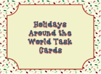 Holidays Around the World Task Cards