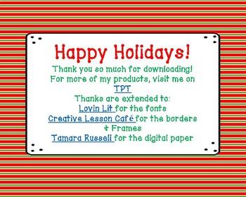 Holidays Around the World Task Cards & Reading Passage