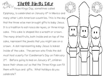 Holidays Around the World - Three Kings Day - Close Reading
