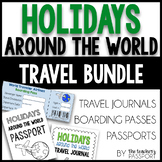 Holidays Around the World Travel Bundle (Passports, Boarding Passes, Journals)