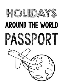 Holidays Around the World Travel Bundle (Passports, Boarding Passes, Journals)