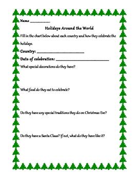 Holidays Around the World- Using QR Codes