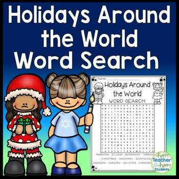 Holidays Around the World Word Search Activity