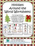 Holidays Around the World Worksheet Pack