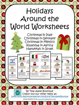 Holidays Around the World Worksheet Pack