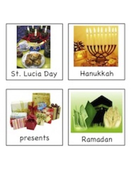 Holidays Around the World - Write the Room Activity