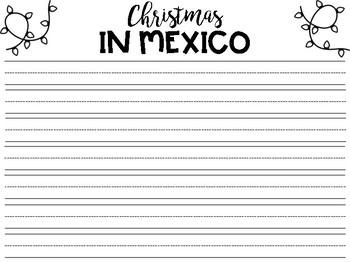 Holidays Around the World Writing Paper