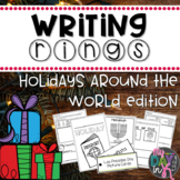 Holidays Around the World Writing Rings for Writing Workshop