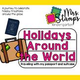 Holidays Around the World passport suitcase crafts BUNDLE