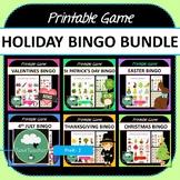 Holidays BINGO BUNDLE 6 Bingo Games Easter Christmas Thank