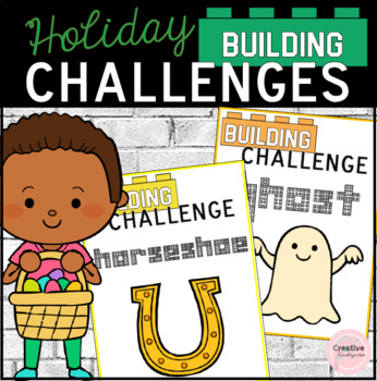 Holidays Building Challenges STEM Task Cards for Kindergarten