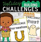 Holidays Building Challenges STEM Task Cards for Kindergarten