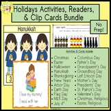 Holidays Activities and Task Cards and Readers