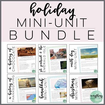 Holiday Close Read Bundle: St Patrick, Earth Day, Thanksgiving, Christmas, more