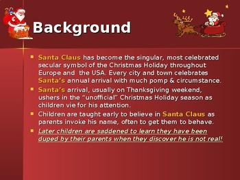 Holidays - Celebrating Christmas Traditions - The History of Santa Claus