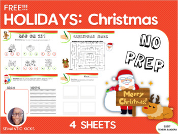Holidays: Christmas Fun Freebie