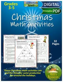 Christmas Hanukkah Kwanzaa Math Activities