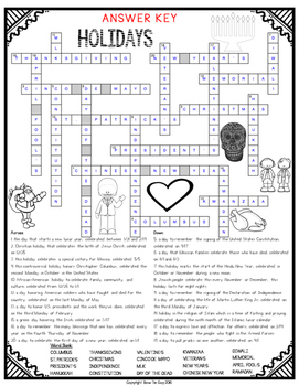 Holidays Crossword