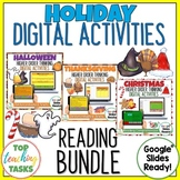 Holidays Digital Activities Google Slides | Halloween, Thanksgiving, Christmas