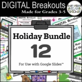Digital Breakout Escape Rooms Money Saving Bundle - Grades 3-5