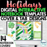 Holidays Digital Interactive Notebook Templates Covers   