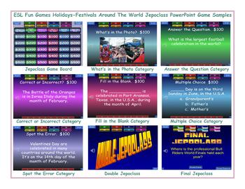 Holidays-Festivals Around The World Jeopardy PowerPoint Game