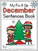 Holidays Fix It Up Sentences Book (Capital Letters, Ending Punctuation, Commas)