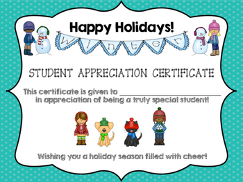 Holiday Certificate and Holiday Coupon