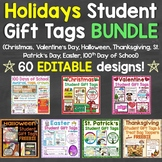 Holidays Gift Tags Bundle Christmas, Valentine's Day, 100th Day, Easter, & More