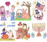 Holidays Image Cards Set